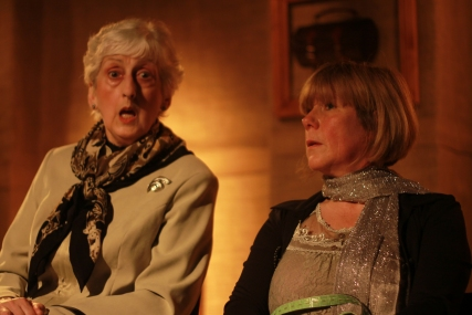 Jean Apps and Maxine Howard in We Need to Talk About Clive  in the May 2014 Theatre Breaks Festival of new writing